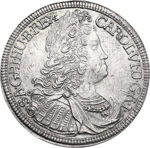 obverse: Austria.  Karl VI (1711-1740).. 1/2 Taler 1724, Hall mint