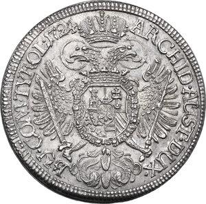 reverse: Austria.  Karl VI (1711-1740).. 1/2 Taler 1724, Hall mint