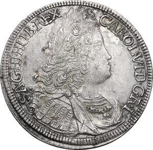 obverse: Austria.  Karl VI (1711-1740).. AR 1/2 Taler 1724, Hall mint