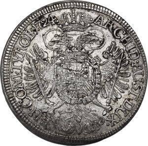 reverse: Austria.  Karl VI (1711-1740).. AR 1/2 Taler 1724, Hall mint