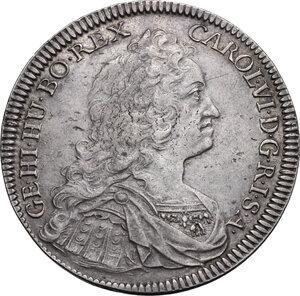 obverse: Austria.  Karl VI (1711-1740).. AR Reichstaler 1736, Hall mint