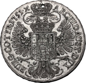 reverse: Austria.  Maria Theresia (1740-1780). AR Taler 1751, Wien mint