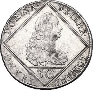 obverse: Austria.  Franz I (1745-1765).. AR 30 Kreuzer 1753 HA, Hall mint