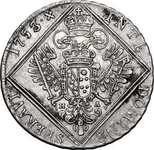 reverse: Austria.  Franz I (1745-1765).. AR 30 Kreuzer 1753 HA, Hall mint