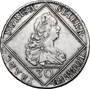 obverse: Austria.  Franz I (1745-1765).. AR 30 Kreuzer 1753, Hall mint