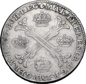 reverse: Austria.  Maria Theresia (1740-1780). AR Taler 1755, Austrian Netherlands, Antwerp mint