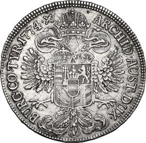 reverse: Austria.  Maria Theresia (1740-1780). AR 1/2 Taler 1774, Gunzburg mint