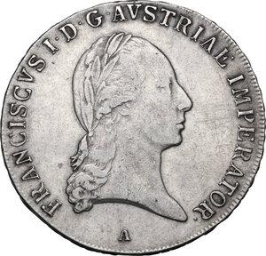 obverse:  Austria. Franz II/I (1792-1805-1835). AR Taler 1821 A, Vienna mint. Dav. 7; Herinek 306. AR. 27.98 g. 41.00 mm. VF/Good VF.