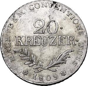 Austria.  Franz II (1792-1835).. AR 20 Kreuzer 1809, Hall mint