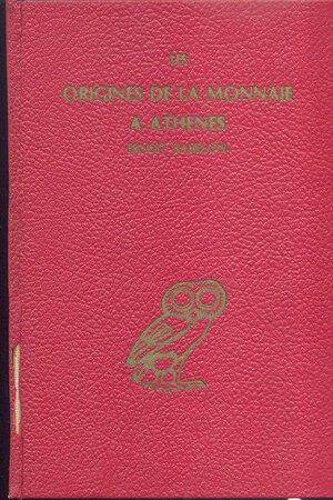obverse: BABELON  E. - Les origines de la monnaie a Athenes. Chicago, 1979. pp. 92, illustrazioni nel testo. ril. editoriale, dorso rotto e  sciupato, buono stato.