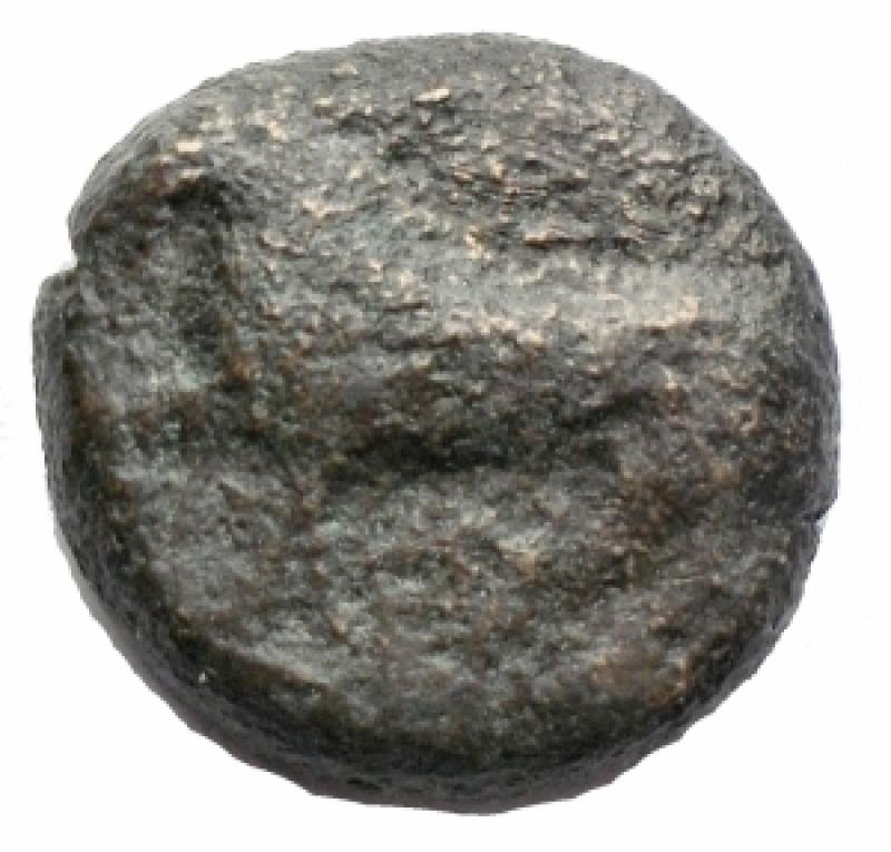 obverse: Mondo Greco -Apulia, Teate.AE 16,5 mm. 325-275 a.C.D/ Legenda retrograda TIATI. Leone andante a sinistra.R/ Legenda retrograda BIAIT AKAI. Testa e collo di cavallo con briglie a destra.Cf. Garrucci XCII,10. HN(Italy)-.g. 6.0.RRR.MB.Estremamente raro