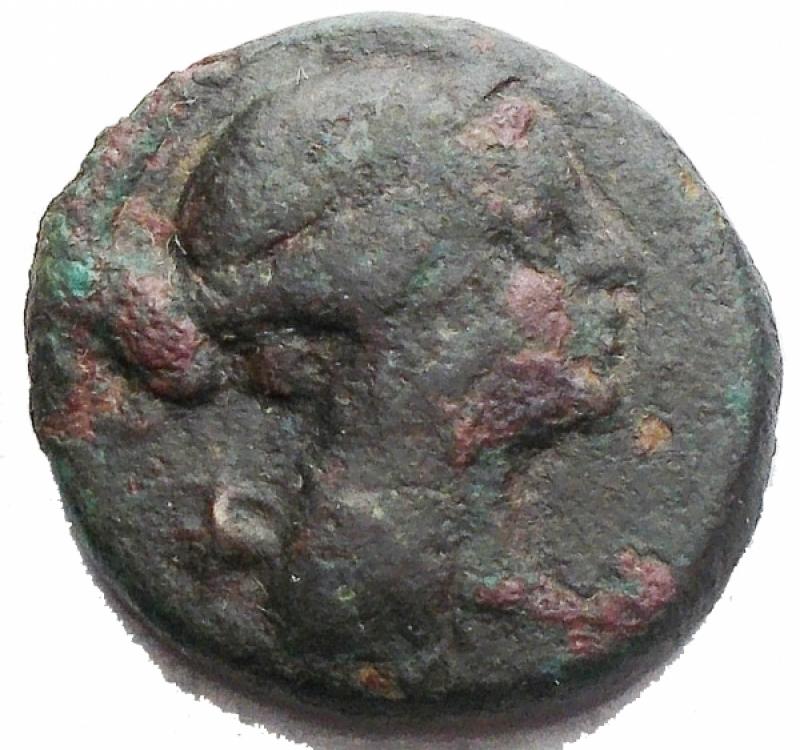 obverse: Mondo Greco - Bruttium. Rhegium. ca 260-215 a.C.Ae.D/ Apollo a destra. R/ Tripode etnico. SNG ANS . SNG Copenhagen . Historia Numorum Italy .Peso gr. 3,96. Diametro mm. 17,46.qBB. R.