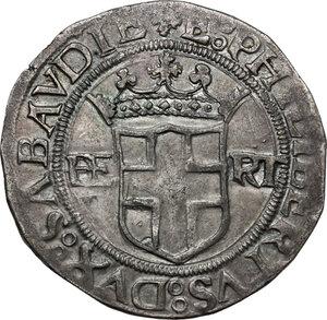 obverse: Emanuele Filiberto (1559-1580). Da 4 grossi 1558, I tipo