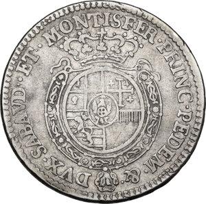 reverse: Carlo Emanuele III (1730-1773).Quarto di scudo 1762