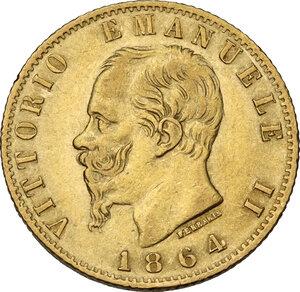 obverse: Vittorio Emanuele II (1861-1878). 20 Lire 1864 Torino