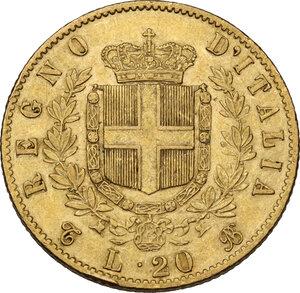 reverse: Vittorio Emanuele II (1861-1878). 20 Lire 1864 Torino