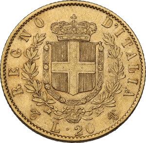 reverse: Vittorio Emanuele II (1861-1878). 20 Lire 1867 Torino
