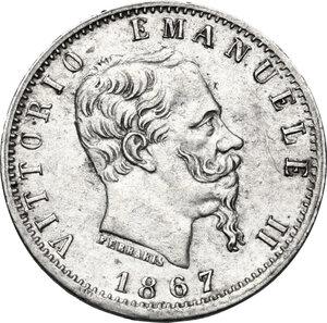 obverse: Vittorio Emanuele II, Re d Italia (1861-1878).20 centesimi 1867 Torino