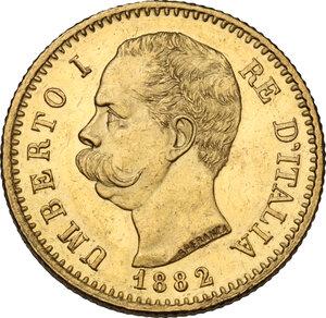 obverse: Umberto I (1878-1900). 20 Lire 1882