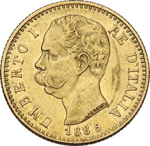 obverse: Umberto I (1878-1900). 20 Lire 1885