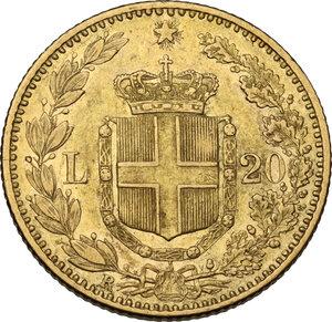 reverse: Umberto I (1878-1900). 20 Lire 1885