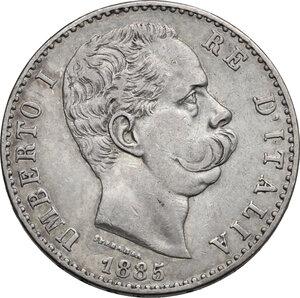obverse: Umberto I (1878-1900). 2 lire 1885