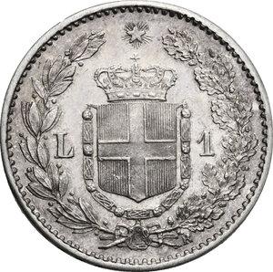 reverse: Umberto I (1878-1900). Lira 1886