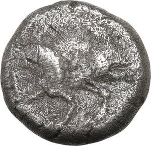 obverse: Ionia, Klazomenai. AR Diobol, c. 499-494 BC