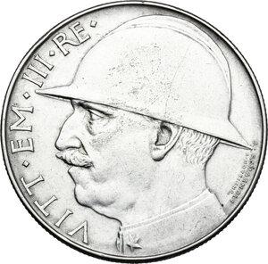 obverse: Vittorio Emanuele III (1900-1943). 20 lire 1928 A. VI
