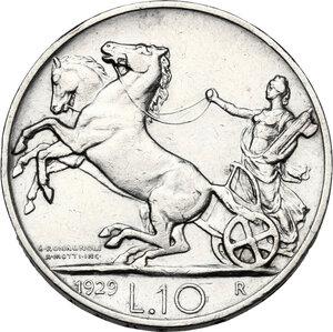 reverse: Vittorio Emanuele III (1900-1943). 10 lire 1929 *