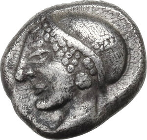obverse: Ionia, Phokaia. AR Diobol, c. 521-478 BC