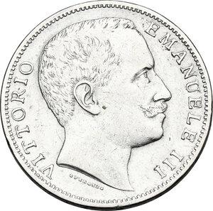 obverse: Vittorio Emanuele III (1900-1943). 2 lire 1906