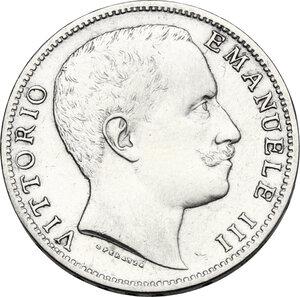 obverse: Vittorio Emanuele III (1900-1943). 2 lire 1907