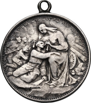 obverse: Vittorio Emanuele III (1900-1943).2 lire Croce Rossa Italiana 1915