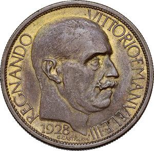 obverse: Vittorio Emanuele III (1900-1943). 2 lire 1928 Fiera di Milano