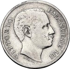 obverse: Vittorio Emanuele III (1900-1943). Lira 1905