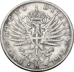 reverse: Vittorio Emanuele III (1900-1943). Lira 1905