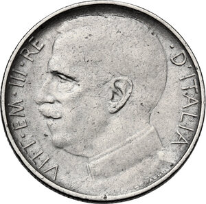 obverse: Vittorio Emanuele III (1900-1943). 50 centesimi 1924 bordo rigato