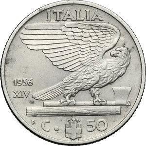 reverse: Vittorio Emanuele III (1900-1943). 50 centesimi 1936