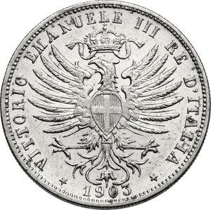 obverse: Vittorio Emanuele III (1900-1943). 25 centesimi 1903