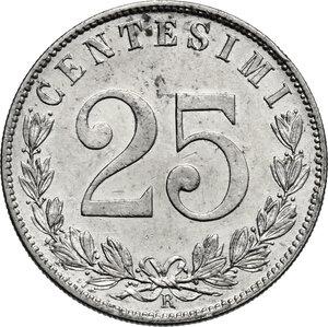 reverse: Vittorio Emanuele III (1900-1943). 25 centesimi 1903