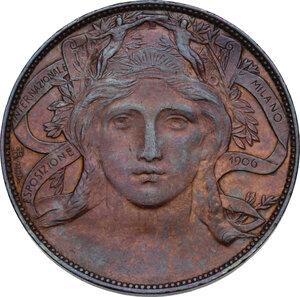 obverse: Vittorio Emanuele III (1900-1943). 20 centesimi Esposizione di Milano 1906