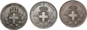 obverse: Vittorio Emanuele III (1900-1943). Lotto di tre (3) monete da 20 centesimi: 1918, 1919, 1920. Bordo liscio