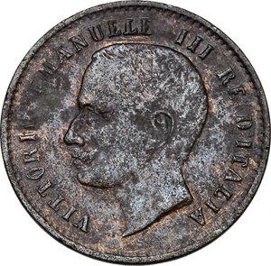 obverse: Vittorio Emanuele III (1900-1943). 2 centesimi 1907
