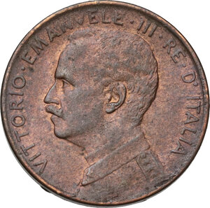 obverse: Vittorio Emanuele III (1900-1943). Centesimo 1918
