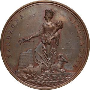 obverse: Carlo Alberto (1798-1849). Medaglia 1831 per l abolizione della feudalità in Sardegna