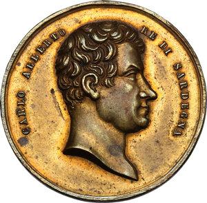 obverse: Carlo Alberto (1831-1849).Medaglia 16 giugno 1846 per l elezione al Pontificato di Giovanni Mastai Ferretti con il nome di Pio IX