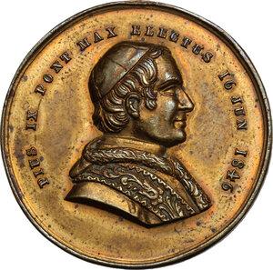 reverse: Carlo Alberto (1831-1849).Medaglia 16 giugno 1846 per l elezione al Pontificato di Giovanni Mastai Ferretti con il nome di Pio IX