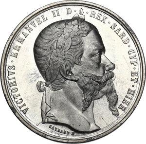 obverse: Vittorio Emanuele II, Re di Sardegna (1849-1861).Medaglia 1859. Alleanza Franco-Sarda per l indipendenza d Italia