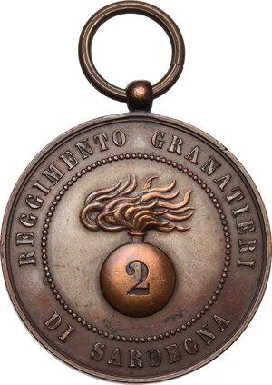 reverse: Medaglia 2° Reggimento Granatieri di Sardegna